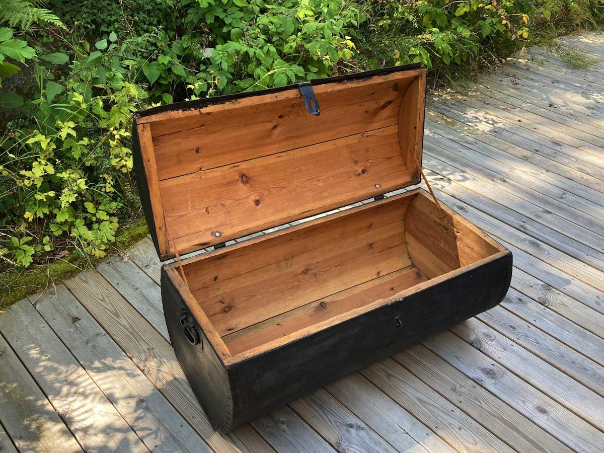 Vintage Kutscherkoffer Holz Truhe Holzkoffer Kiste Oldtimer