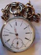 Taschenuhr Schlüsseluhr Silber